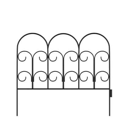 16 in. Metal Decorative Iris Garden Fencing (Set of 5)