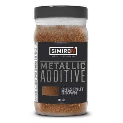 32 oz. Chestnut Brown Metallic Paint and Epoxy Additive for 3 Gal. Mix