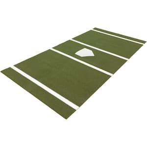 6 ft. x 12 ft. Home Plate Mat in Green for Baseball