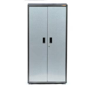 Ready-to-Assemble Steel Freestanding Garage Cabinet in Silver Tread (36 in. W x 72 in. H x 18 in. D)