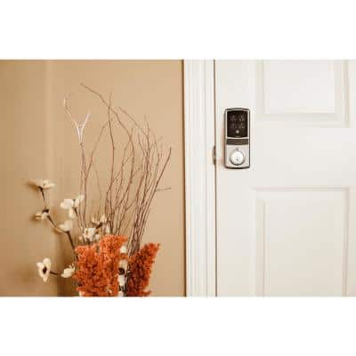 Model-S Satin Nickel Single-Cylinder Smart Deadbolt Lock with Keypad, Bluetooth and Discrete PIN Code Input