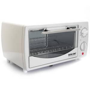 700-Watt 4-Slice White Toaster Oven Broiler