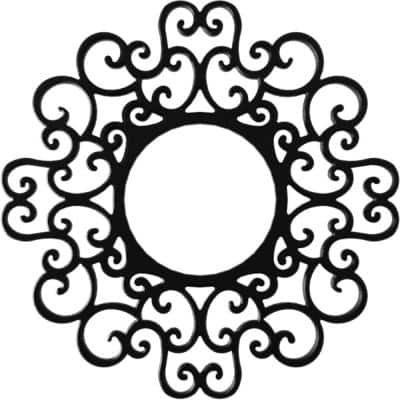 1 in. x 32 in. x 32 in. Reims Architectural Grade PVC Pierced Ceiling Medallion