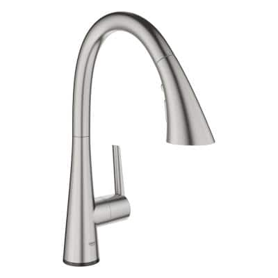 Ladylux L2 Touch Single-Handle Pull-Out Sprayer Kitchen Faucet with Touch Activation in SuperSteel Infinity Finish