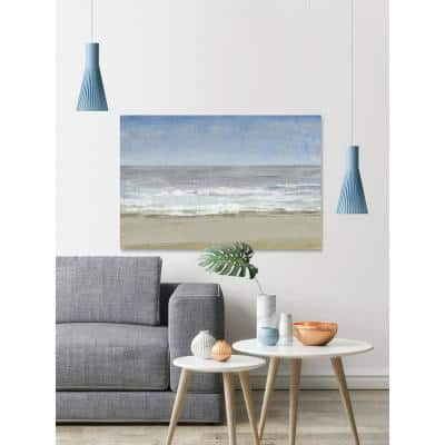 """40 in. H x 60 in. W """"Beach Walking Day I"""" by Marmont Hill Canvas Wall Art"""