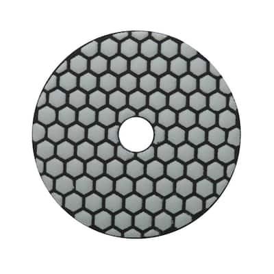 4 in. 50 Grit Resin Dry Polishing Pad