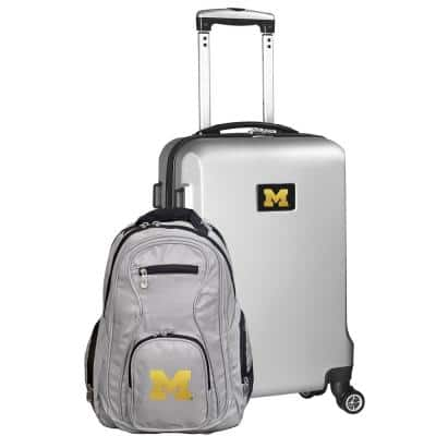 Michigan Wolverines Deluxe 2-Piece Backpack and Carry on Set