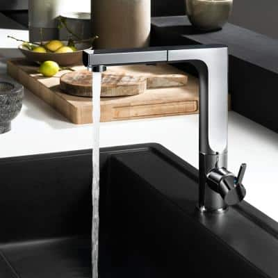 Ascend Single-Handle Pull Out Sprayer Kitchen Faucet with CeraDox Technology in Polished Chrome