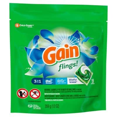 Flings Blissful Breeze Laundry Detergent Pods (16-Count)