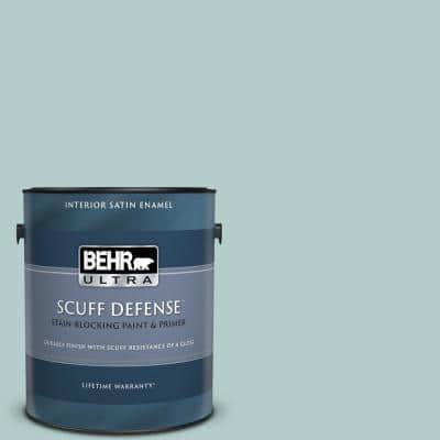 1 gal. #PPU13-15 Clear Pond Extra Durable Satin Enamel Interior Paint & Primer