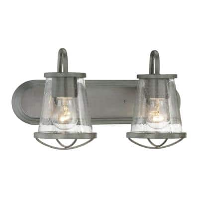 Darby 2-Light Weathered Iron Bath Light