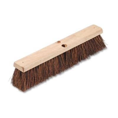 18 in. Floor Brush Head with 3-1/4 in. Natural Palmyra Fiber