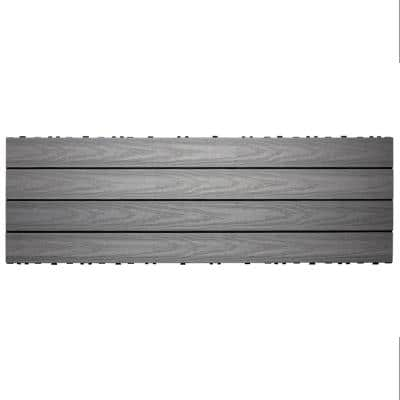 UltraShield Naturale 1 ft. x 3 ft. Quick Deck Outdoor Composite Deck Tile in Westminster Gray (15 sq. ft. Per Box)