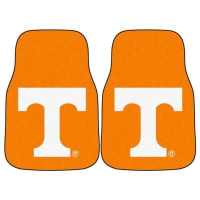 University of Tennessee 18 in. x 27 in. 2-Piece Carpeted Car Mat Set