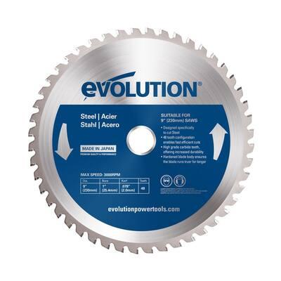 9 in. 48-Teeth Mild Steel Cutting Saw Blade