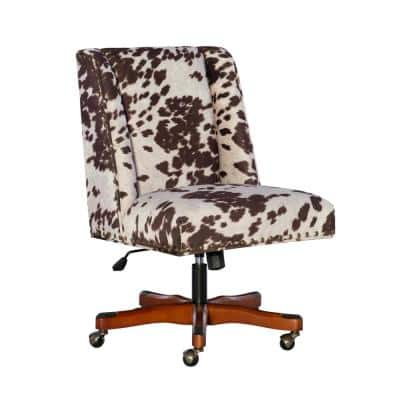 24 in. Width Big and Tall Udder Madness Fabric Task Chair with Adjustable Height
