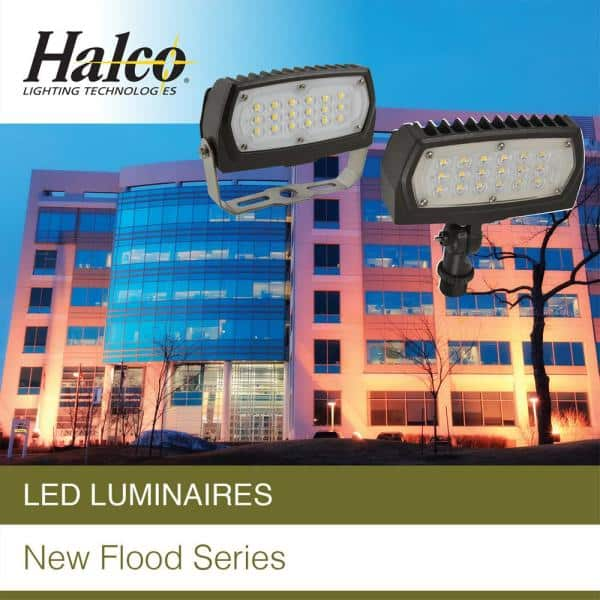 Halco Lighting Technologies 250 Watt Equivalent 90 Watt Bronze Outdoor Integrated Led Medium Landscape Flood Light 120 277v Knuckle Cool White 99681 Fl3 Cl90bz40u Sf 99681 The Home Depot