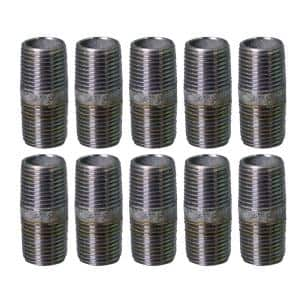 1-1/2 in. x 4-1/2 in. Galvanized Steel Nipple Pipe (10-Pack)