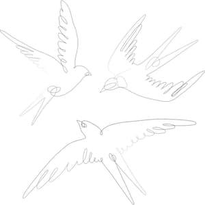 Black Swallows Wall Decal