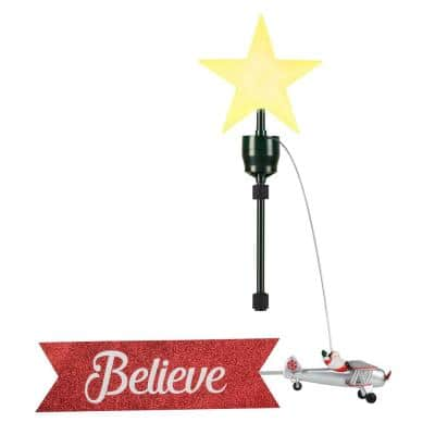 22 in. Biplane Animated Tree Topper