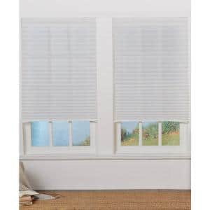 Perfect Lift Window Treatment Cut To Width White Cordless Light Filtering Pleated Shade 22 5 In W X 64 In L Qdwt224640 The Home Depot