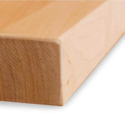 Finished Maple 8 ft. L x 25 in. D x 1.75 in. T Butcher Block Countertop with eased edge