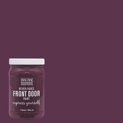 Express Yourself 1 qt. Satin Playful Purple Water-Based Front Door Paint