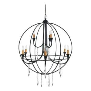 Ballard 9-Light Satin Black Chandelier