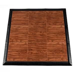 Max Tile 40.75 in. x 40.75 in. x 5/8 in. Cherry Interlocking Vinyl Tile Portable Tap Dance Floor (9 sq. ft. / case)
