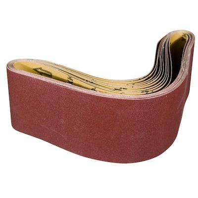 6 in. x 48 in. 120-Grit Aluminum Oxide Sanding Belt (10-Pack)