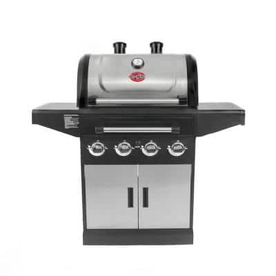 Flavor Pro 4-Burner Gas Grill with Multi-Fuel Flavor Drawer