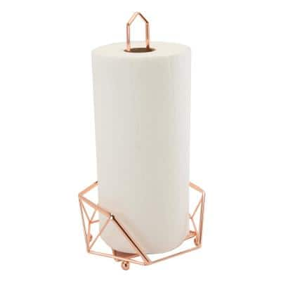 Geode Copper Paper Towel Holder
