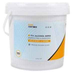 75% Alcohol Hand Sanitizing Wipes with Aloe (500-Count Bucket)