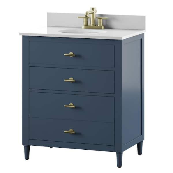Bath Vanity In Franklin Blue, Bathroom Vanities 30 Inch With Drawers