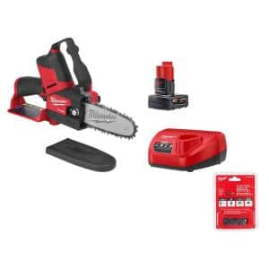 M12 FUEL 12-Volt Lithium-Ion Brushless Cordless 6 in. HATCHET Chainsaw Kit w/4.0 Ah Battery, Charger & Replacement Chain