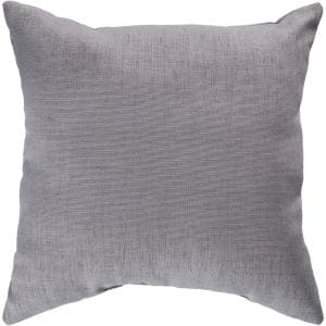 Strahlhorn Grey Solid Polyester 18 in. x 18 in. Throw Pillow