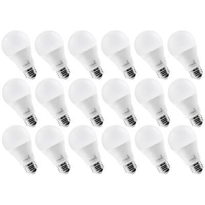 75-Watt Equivalent 14-Watt 3000K A19 Dimmable and UL Certified E26 Base LED Light Bulb Soft White (18-Pack)
