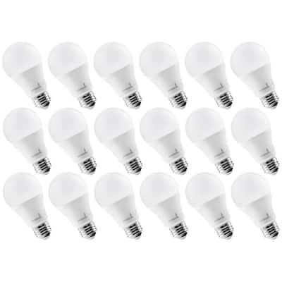 60-Watt Equivalent 9-Watt A19 Not Dimmable LED Light Bulb 3000K Soft White (18-Pack)