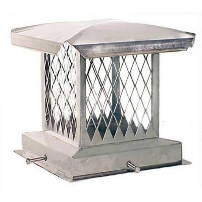 E-Series 8 in. x 17 in. Adjustable Stainless Steel Chimney Cap