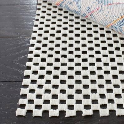 Grid White 2 ft. x 4 ft. Non-Slip Rug Pad