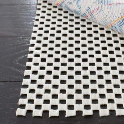 Grid White 8 ft. x 8 ft. Non-Slip Rug Pad