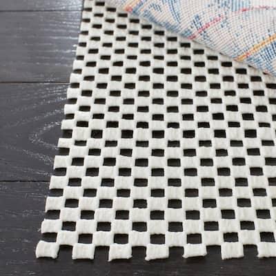 Grid White 9 ft. x 12 ft. Non-Slip Rug Pad