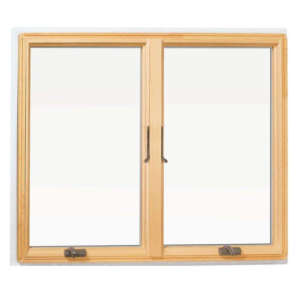 Andersen 48 In X 48 In 400 Series Casement Wood Window With White Exterior 9117172 The Home Depot