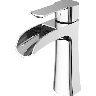 Paloma Single-Handle Single Hole Bathroom Faucet in Chrome