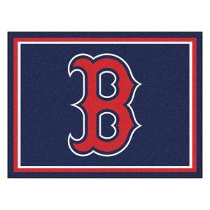 MLB Boston Red Sox Navy Blue 8 ft. x 10 ft. Indoor Area Rug