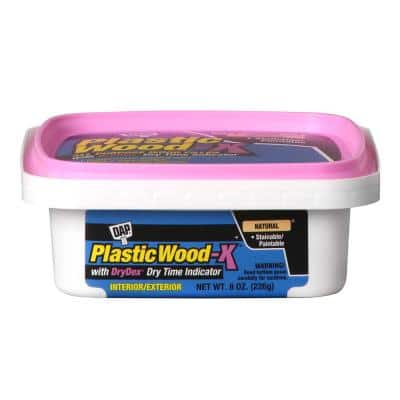 Plastic Wood-X with DryDex 8 oz All Purpose Wood Filler (6-Pack)
