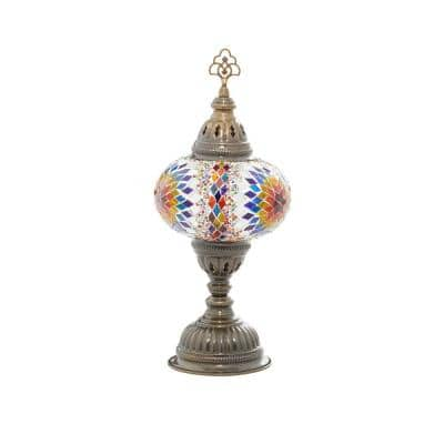 15 in. Black Glass Bohemian Accent Lamp