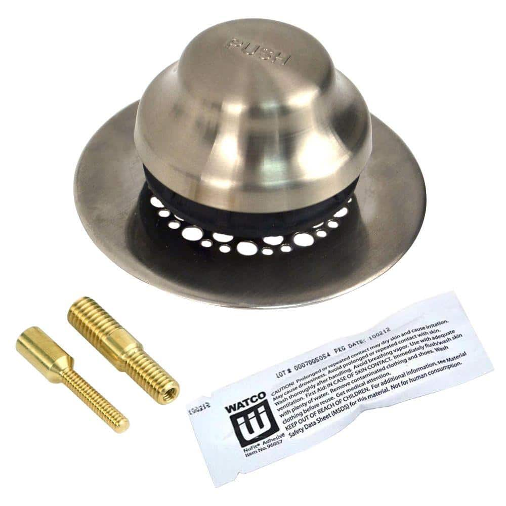 Std Strainer 48750-PP-CP, Watco Bathtub Stopper And Drain Pack of 2