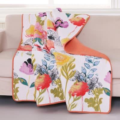 Watercolor Multicolored Throw Blanket
