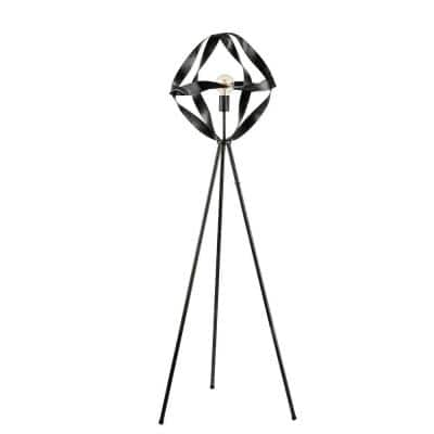Maloke 63 in. 1-Light Black Indoor Floor Lamp with Light Kit